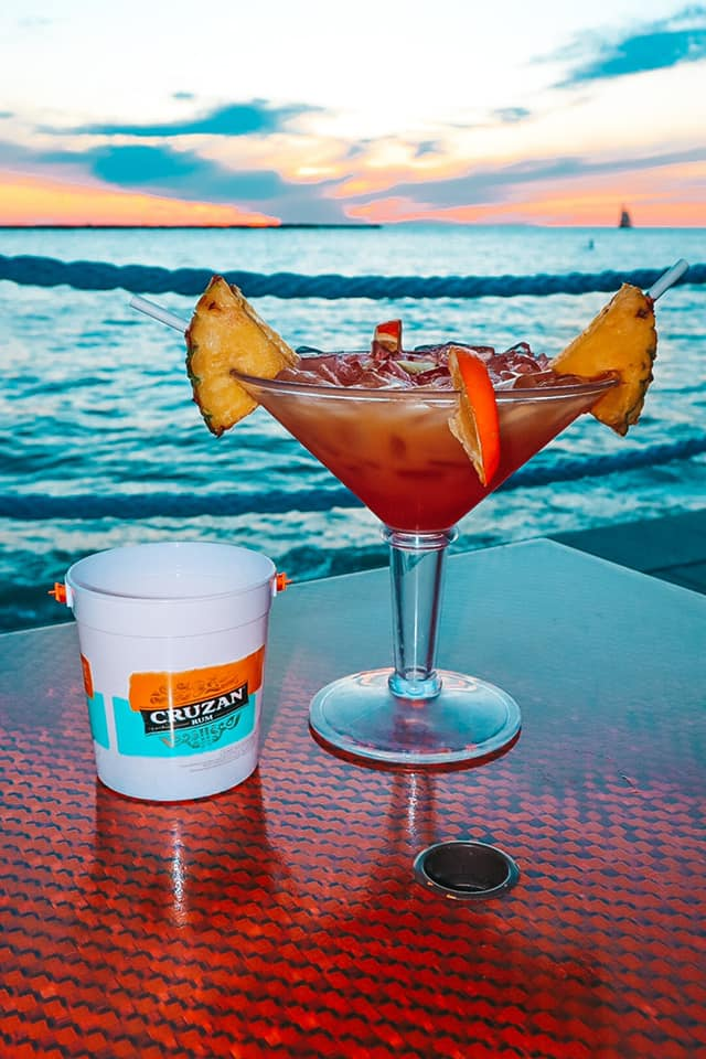 Best Beach Bar Clearwater Beach best instagrammable drink Jimmy's voodoo juice