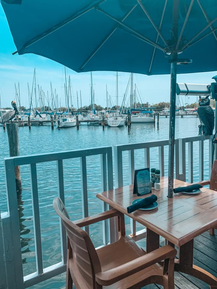 Views of the Marina from your seat at Fresco's Waterfront