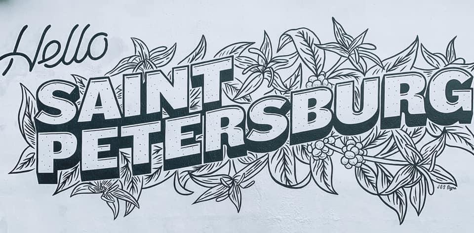 hello Saint Petersburg mural