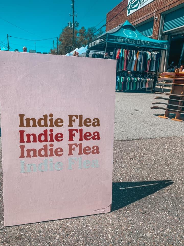 Indie Flea signage