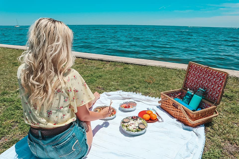 Enjoying a picnic at Vinoy Park in downtown St. Pete