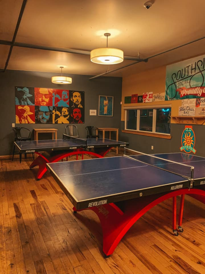 Ping pong table area at Southside Social