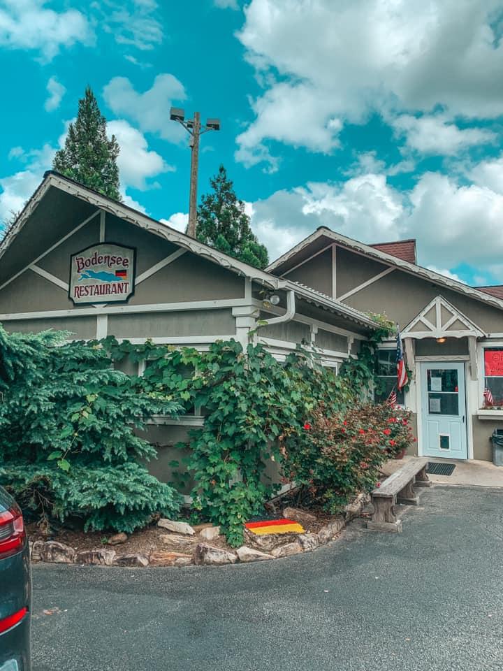 Outside of Bodensee Restaurant in Helen, Georgia