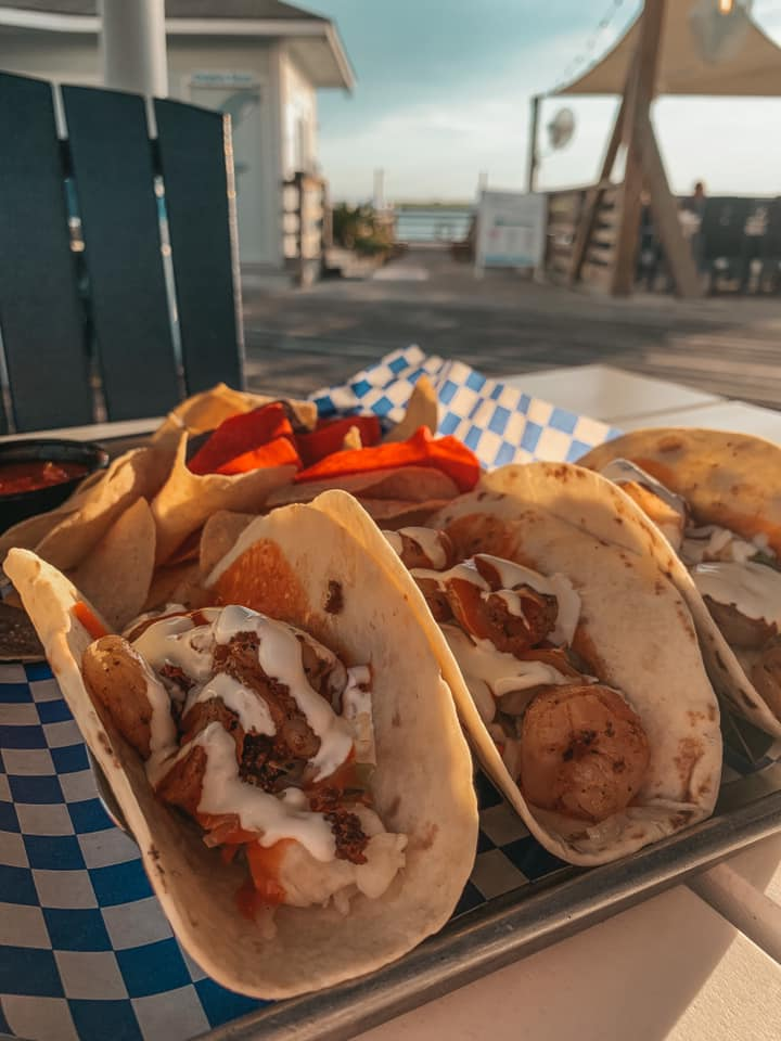 Shrimp tacos from The Wharf