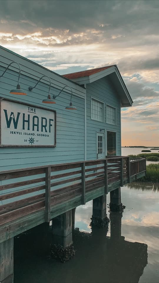 The wharf at sunset on Jekyll Island
