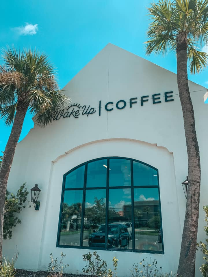 Wake up coffee on St Simons Island Georgia