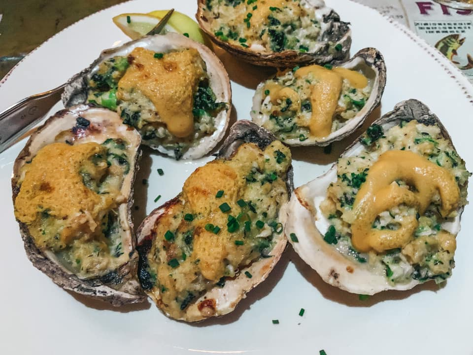 Grilled oysters from Owen's Fish Camp