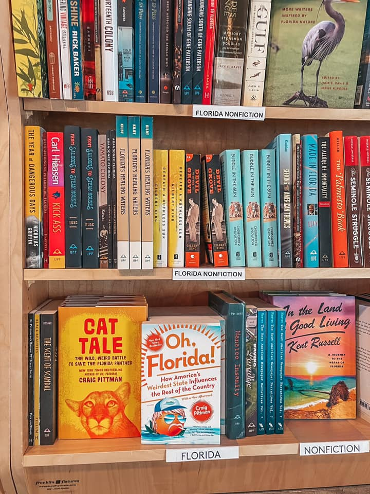 Florida book section at Tombolo Books