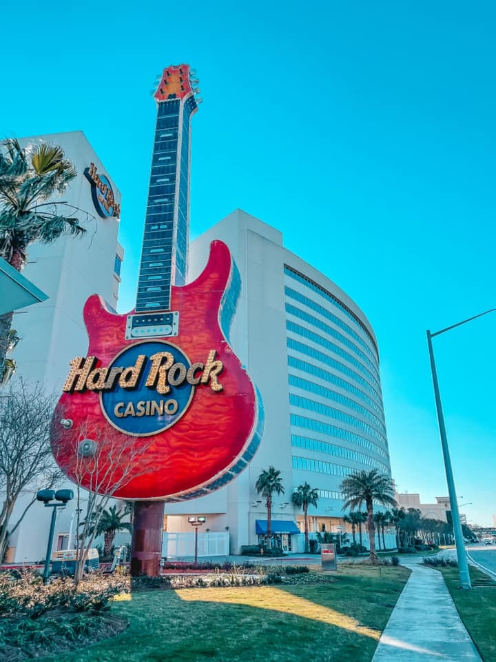 Guitar signage for Hard Rock Casino in Biloxi