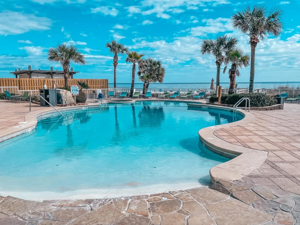 Views of the pool area at Holiday Inn Express Orange Beach