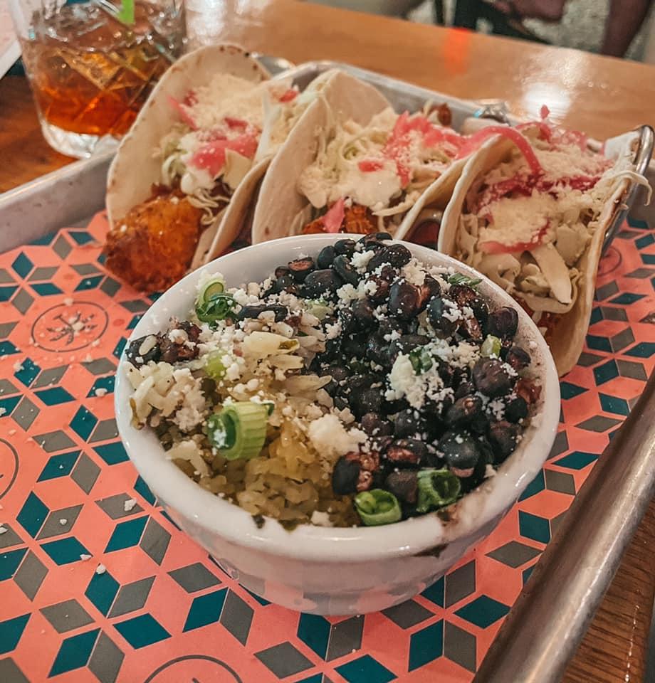 Fish tacos from Playa