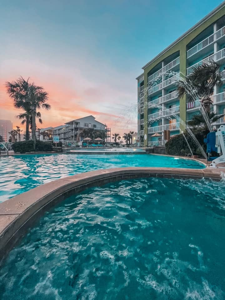 Views from the jacuzzi at Holiday Inn Express Orange Beach