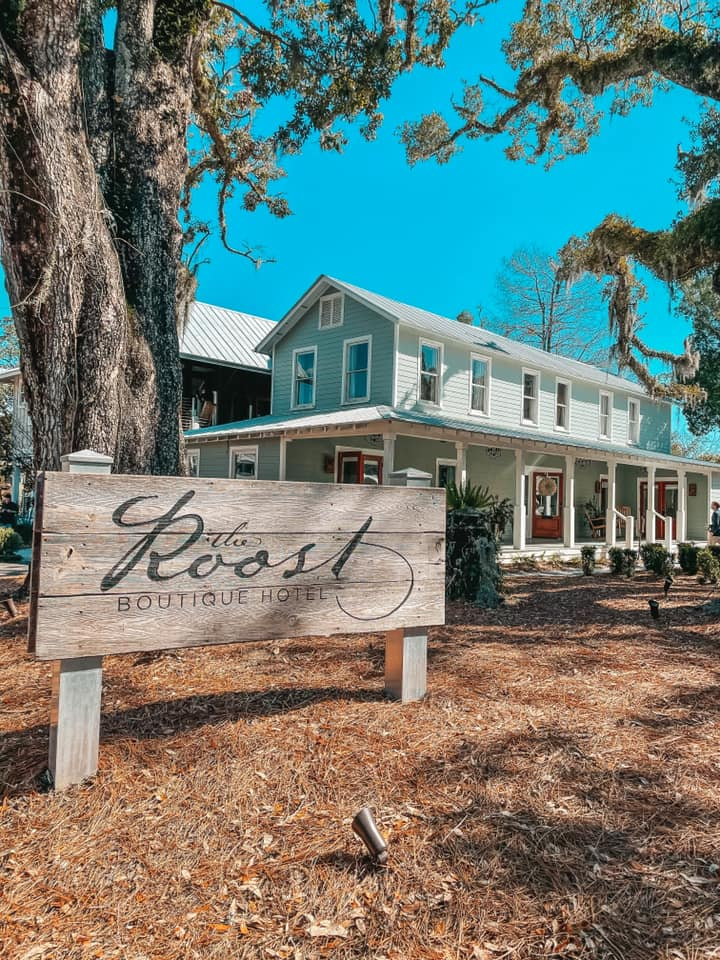 Outside of The Roost Boutique Hotel in Ocean Springs