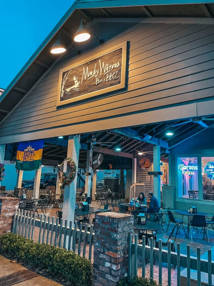 Front of Murky Waters BBQ in Ocean Springs