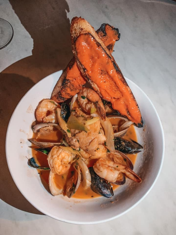 Bouillabaisse from left bank bistro in downtown st. pete