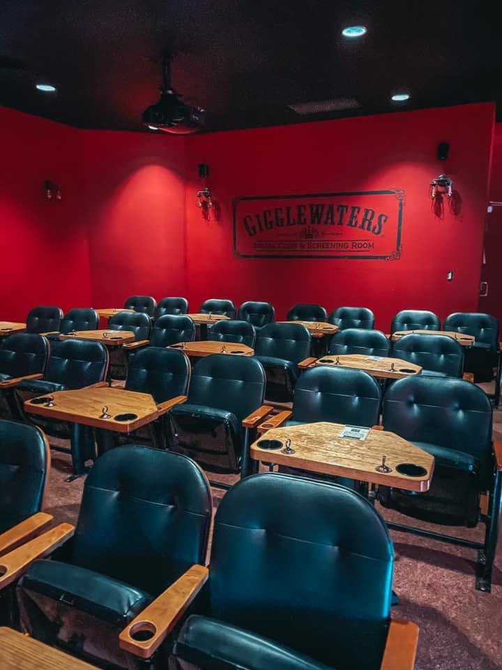 Gigglewaters screening room