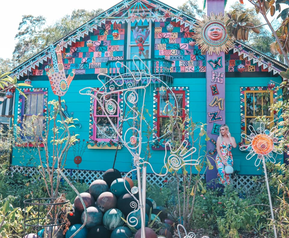 Fun, brightly colored Whimzeyland in downtown safety harbor