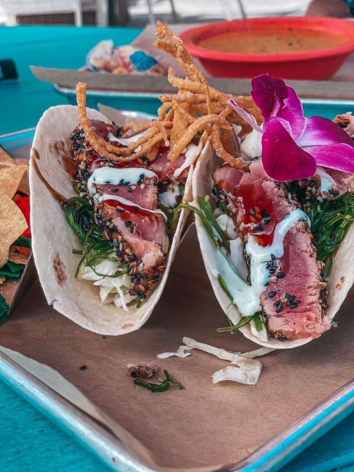 tuna tacos from Bar Fly